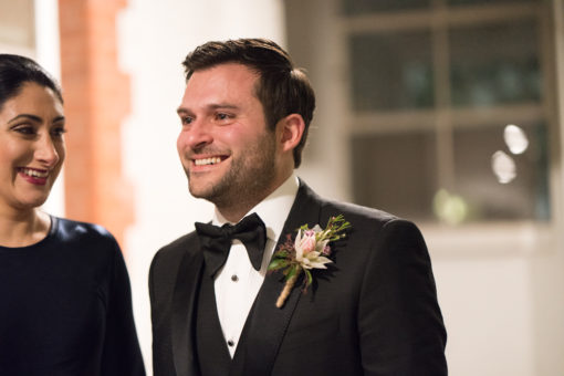 A little tear of joy on the Groom's cheek just after the Wedding Ceremony