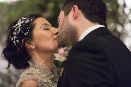 Husband and Wife first Kiss
