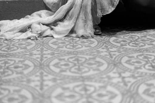 detail of a stunning wedding dress