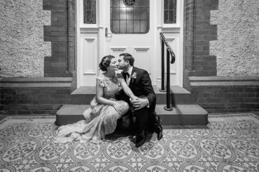 Husband and Wife night photography at Abbotsford Convent
