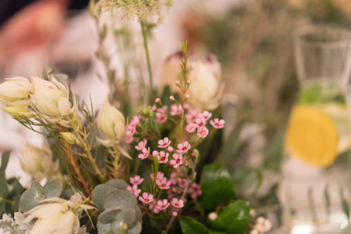 table floral decoration for a Wedding