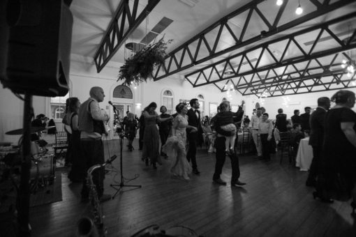 Dancing floor at Abbotsford Convent. Wedding Photography by Erika's Way Photography