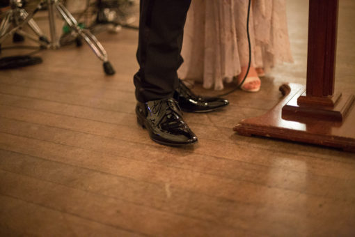 details of the Grooms shoes
