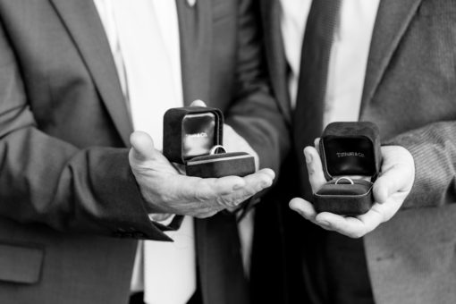 Father of the Bride and Father of the Groom holding the Wedding Rings. Abbotsford Convent Wedding, Melbourne. Photography by Erika's Way Photography, Melbourne