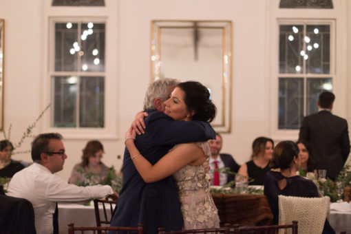 Father and Daughter Hug at the Wedding