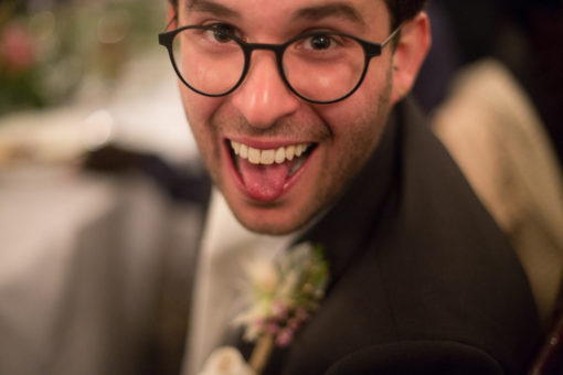 happy and cheeky face at the Wedding