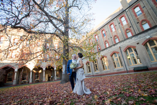 Father and Daughter/Bride at Abbotsford Convent