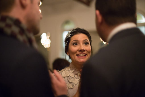 Gorgeous Bride chatting with the Guests
