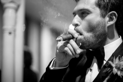 Groom and his cigar
