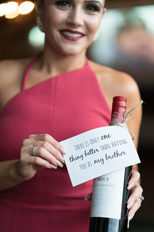 Little gift and note from the bride to her Brotehr to let him know how important is his presence in her life and at the wedding. Family love captured by Erika's Way Photography