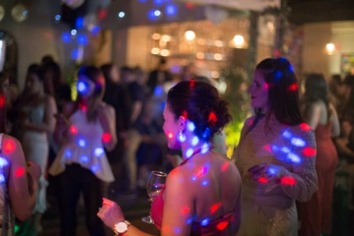 Disco colourful lights. Photo by Erika's Way Photography